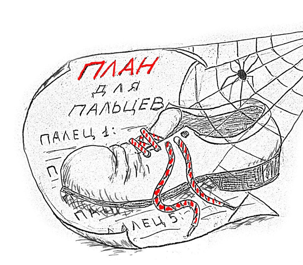 Ботинок по плану